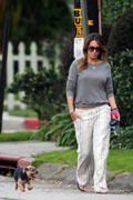 Haylie Duff- Pokies and Butt Walking the Dog in Toluca Lake 04/01/10
