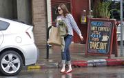 Мэнди Мур, фото 3379. Mandy Moore - leaving Little Dom's restaurant in California 02/15/12, foto 3379